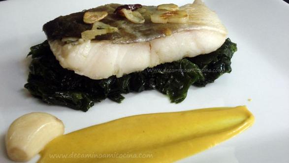 Bacalao Confitado con Algas