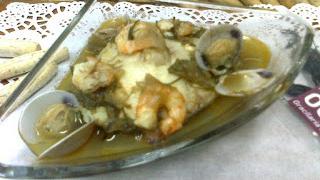 Caldeirada de pescado con ogonori roja